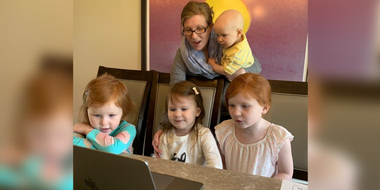 Dr. Laura Sherbin, an economist and managing director of Culture@Work, with her four children.