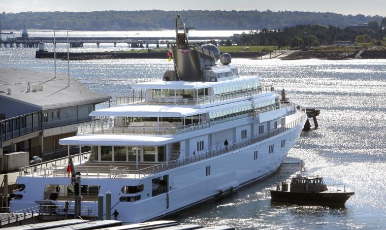 Image: David Geffen's yacht Rising Sun
