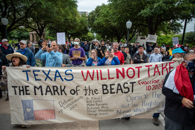 Image: Demonstrators Protests At Texas State Capitol Against Governor's Stay At Home Order