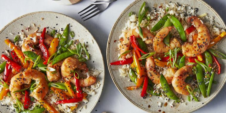 Easy Shrimp Stir-Fry with Ginger Rice