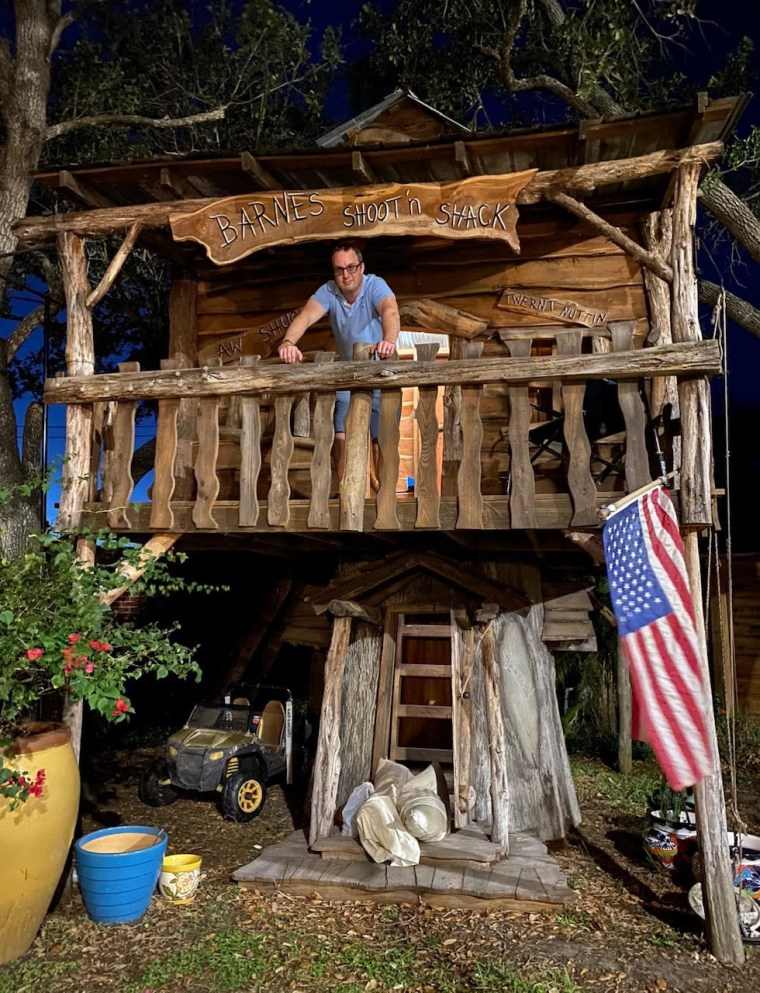 Dr. Jason Barnes lives in a treehouse during the coronavirus crisis.