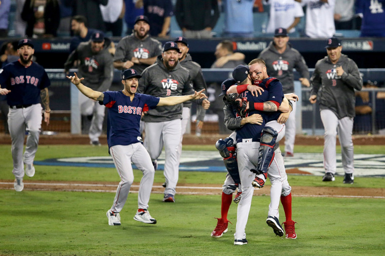 Image: World Series - Boston Red Sox v Los Angeles Dodgers - Game Five