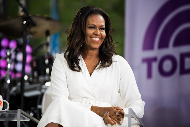 """Image: Michelle Obama appears on NBC's \""""TODAY\"""" show in New York on Oct. 11, 2018."""