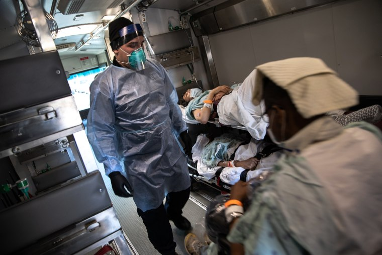 Image: *** BESTPIX *** Tri-State EMS Workers Confront Growing Number Of Coronavirus Cases
