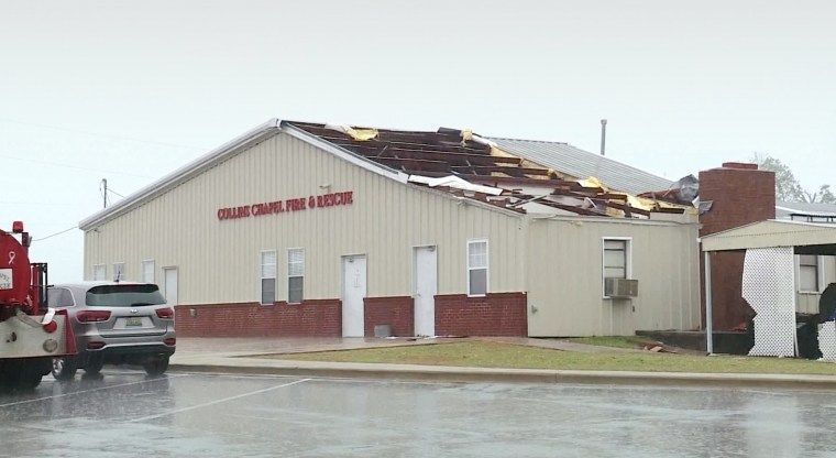 Strong storms ripped through parts of Alabama Sunday leaving behind a trail of damage.