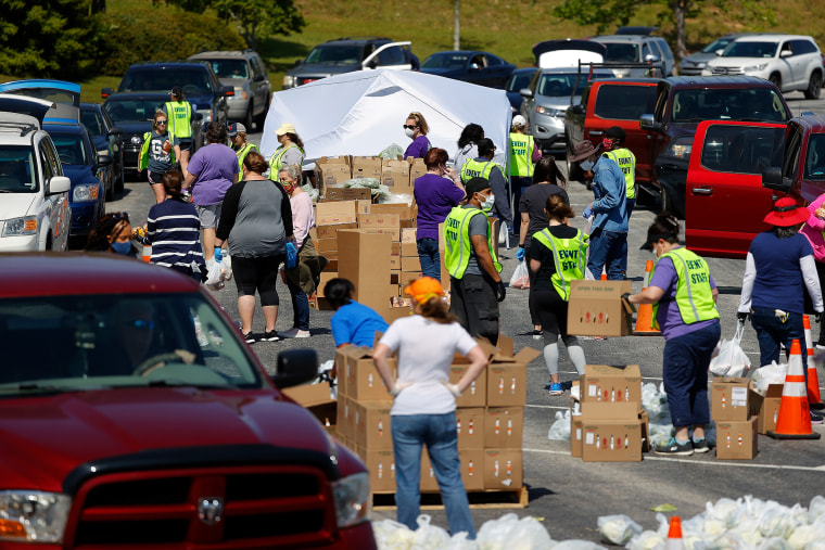 Image: Atlanta Motor Speedway Hosts Food Distribution Event For Those In Need