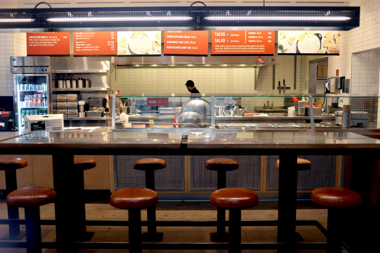 Image: Empty Chipotle restaurant in financial district in lower Manhattan during outbreak of coronavirus disease (COVID-19) in New York