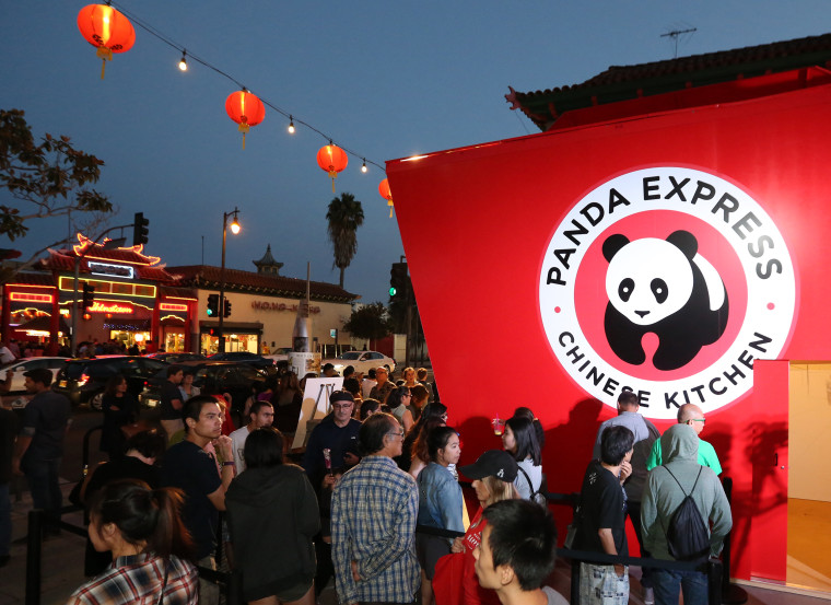 Attendees line up to try Panda Express' General Tso's Chicken at Chinatown Summer Nights in Los Angeles in August 2016.