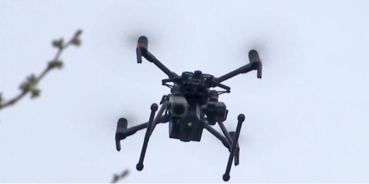 A police drone in Westport, Conn.