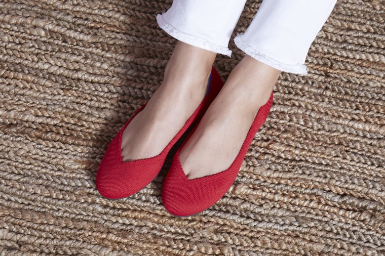 Rothy's cherry-colored shoes