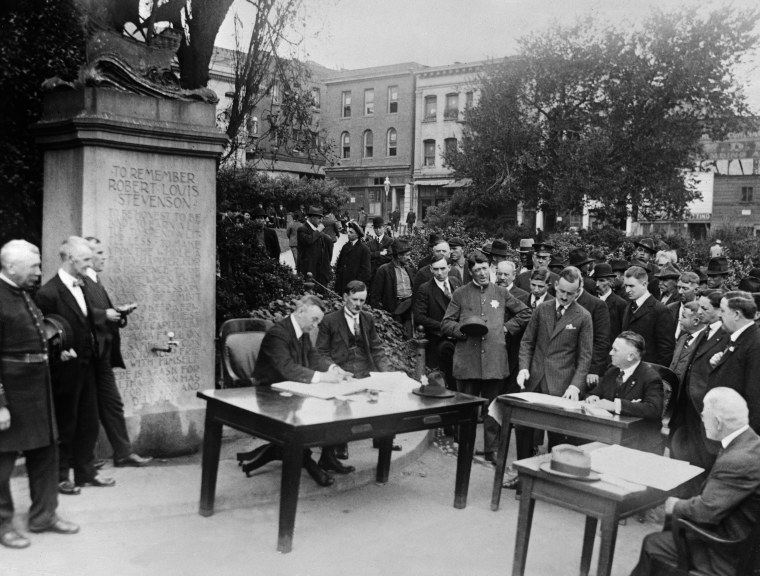 Image: Court in Open Air During Epidemic