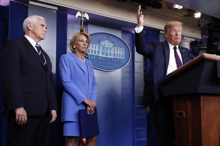 Image: Donald Trump Betsy DeVos