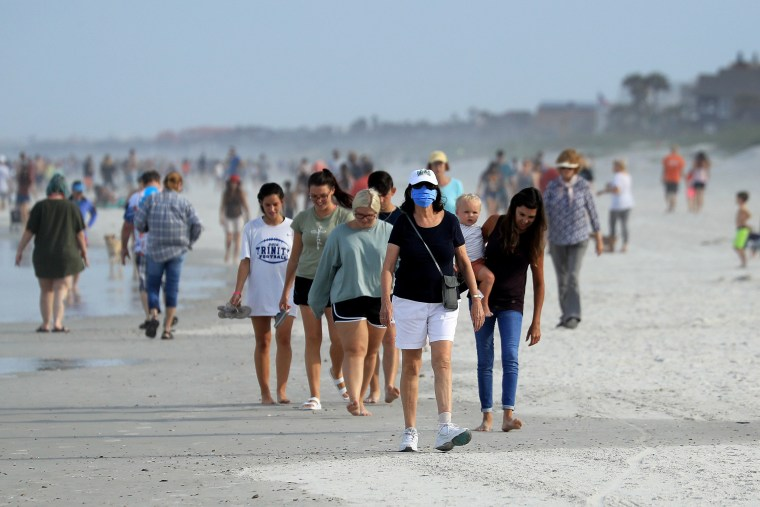 Image: Jacksonville, Florida Re-Opens Beaches After Decrease In COVID-19 Cases