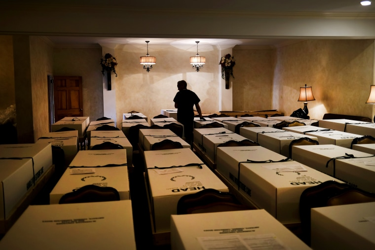 Image: Funeral Home In The Queens Borough Of New York Deals With Influx Of Funerals During Coronavirus Pandemic
