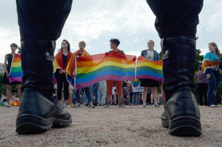 Image: Russia gay rights