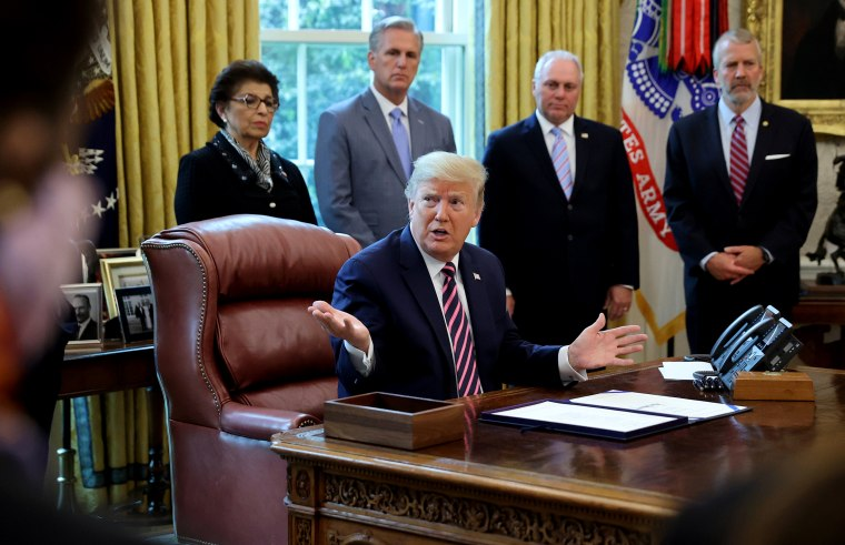 Image: U.S. President Trump participates in coronavirus relief bill signing ceremony at the White House in Washington