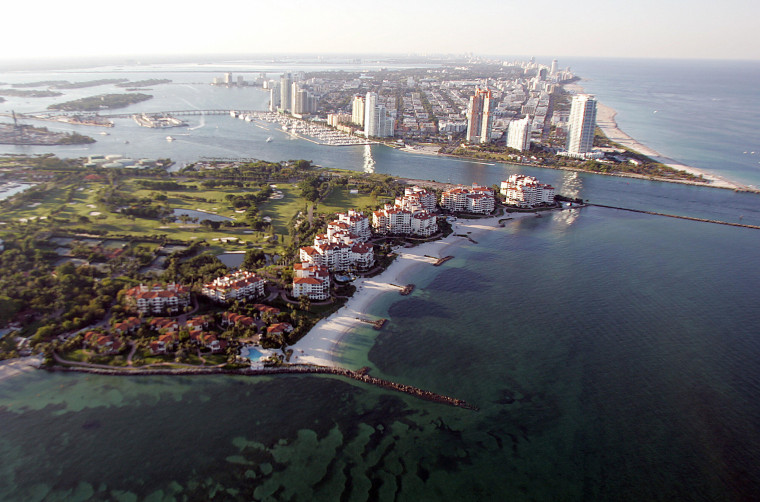 Image: Aerial view of Fisher Island, Fla.
