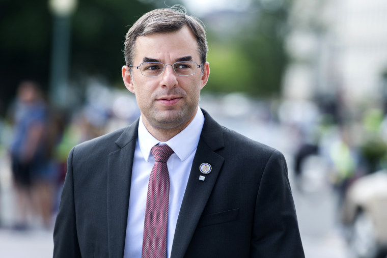 Image: Rep. Justin Amash, R-Mich., near the Capitol on May 23, 2019.