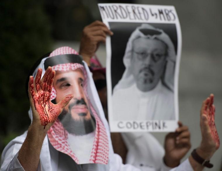 Image: Protests outside the Saudi Embassy in Washington