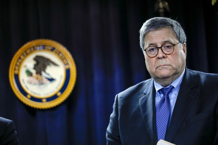 Image: Attorney General William Barr at a press conference in Detroit on Dec. 18, 2020.