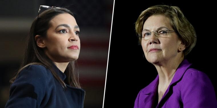 Alexandria Ocasio Cortez, Elizabeth Warren