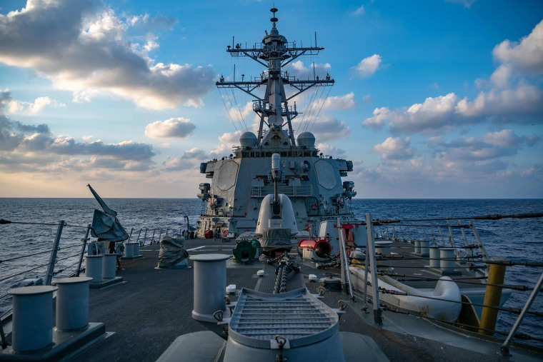 Image: The Arleigh-Burke class guided-missile destroyer USS Barry (DDG 52) conducting underway operations