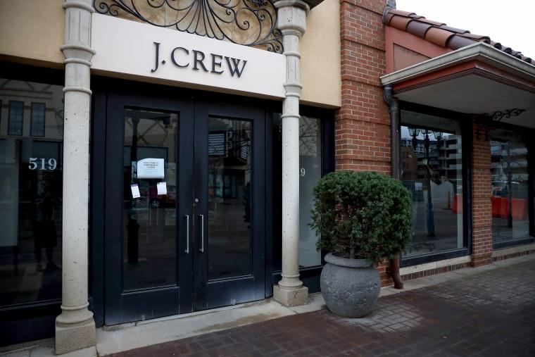Image: A closed J. Crew store in Kansas City, Missouri, on April 2, 2020.