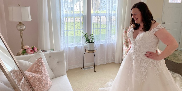 Virtual wedding dress shopping options vary across the country.