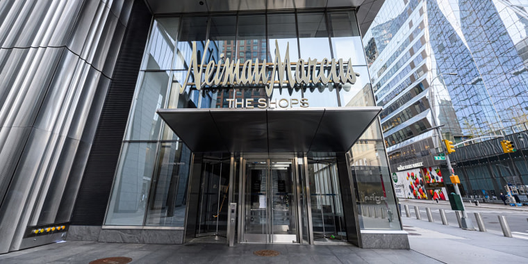 A view of Neiman Marcus at The Shops at the Hudson Yards on April 20, 2020 in New York City