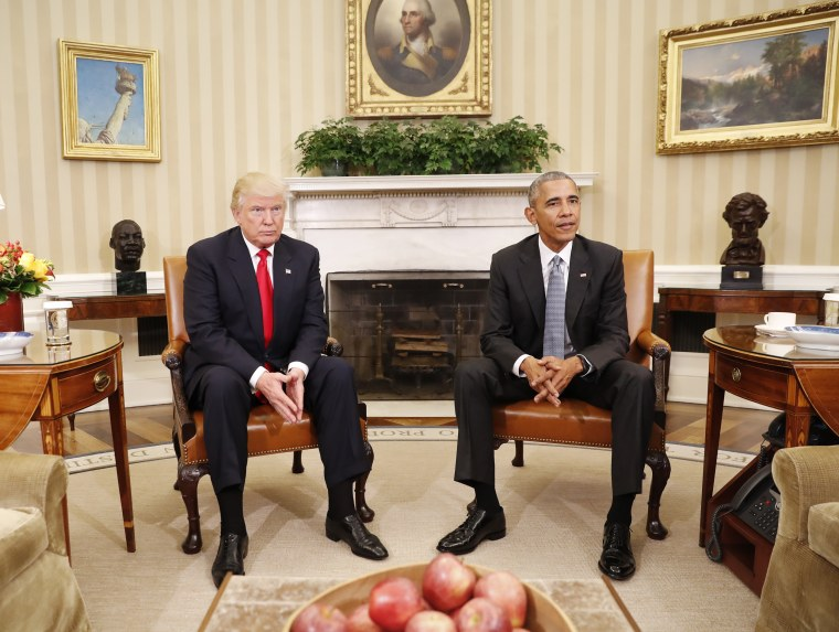 Image: Obama meets with President-elect Donald Trump in the Oval Office