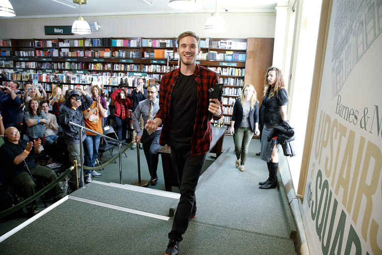 "Image: Felix Kjellberg, PewDiePie Signs Copies Of His New Book ""This Book Loves You\"""