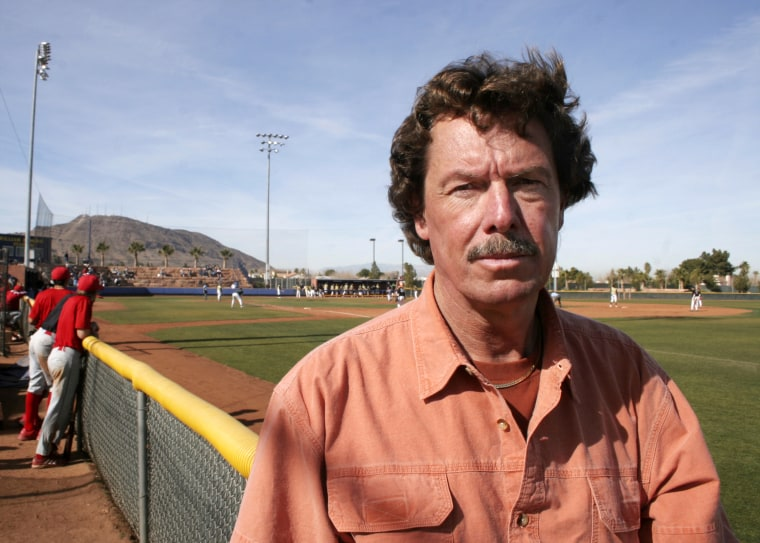Image: Former Oakland Athletics pitcher Matt Keough attends his son's baseball game in Henderson, Nev., in 2006.