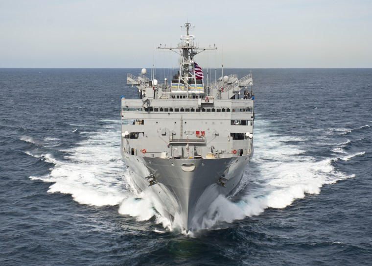 The Military Sealift Command fast combat support ship USNS Supply.