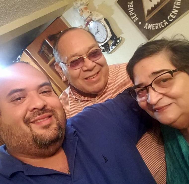 Mario Mayorga Jr, Mario Mayorga Tuckler, and Esperanza Tapia.