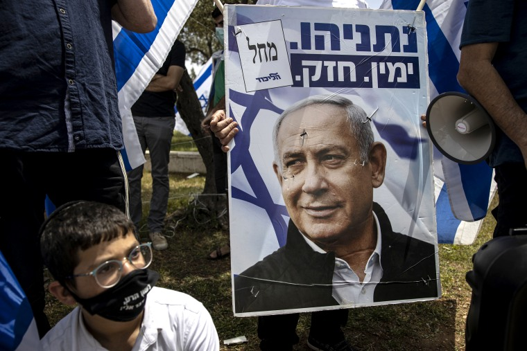 Image: Poster of Prime Minister Benjamin Netanyahu