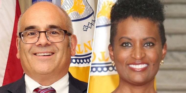 Trenton Mayor Reed Gusicora and New Jersey Councilwoman Robin Vaughn.