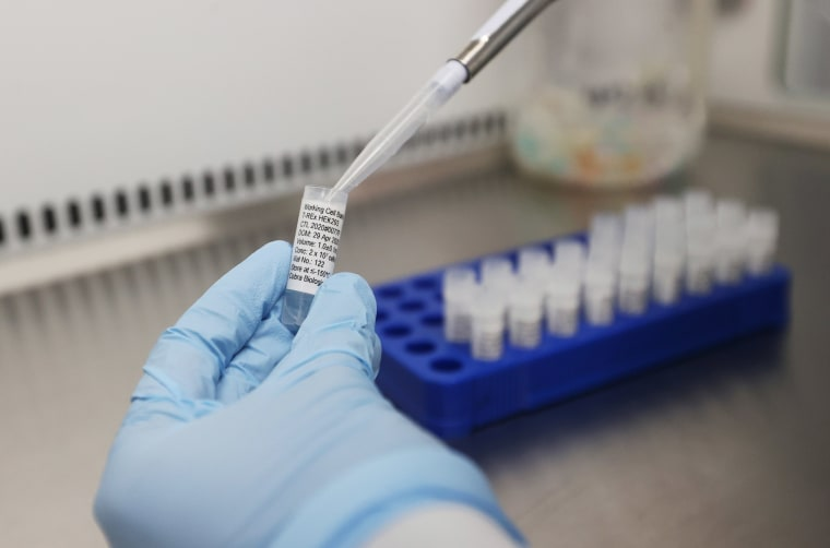 Image: Scientists are seen working at Cobra Biologics, they are working on a potential vaccine for COVID-19, following the outbreak of the coronavirus disease (COVID-19), in Keele, Britain