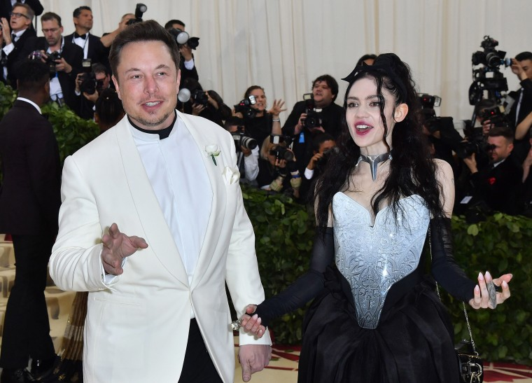 Image: Elon Musk and Grimes arrive for the 2018 Met Gala, at the Metropolitan Museum of Art in New York.