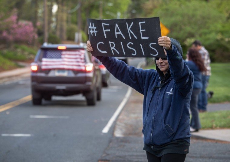 Image: Protestors Rally At Connecticut State Capitol Against COVID-19 Stay-At-Home Order