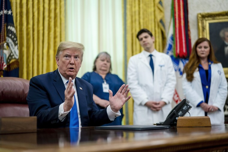 Image: President Trump Holds Proclamation Signing In Honor Of National Nurses Day