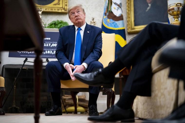 Image: President Trump Meets With Iowa Governor Kim Reynolds