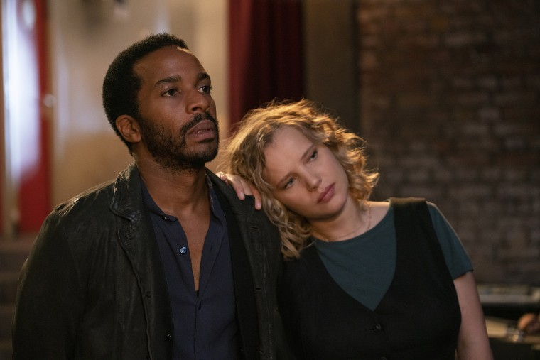 """Andre Holland and  Joanna Kulig in a scene from """"The Eddy."""""""