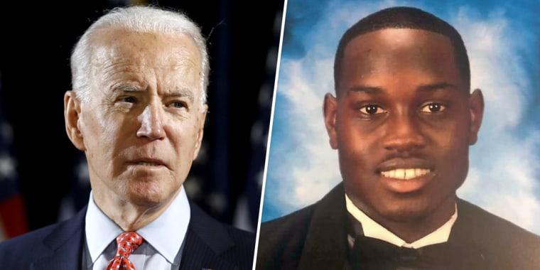 Joe Biden; Ahmaud Arbery.