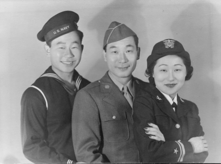 Siblings Philip and Susan Anh in uniform.   Photo courtesy of