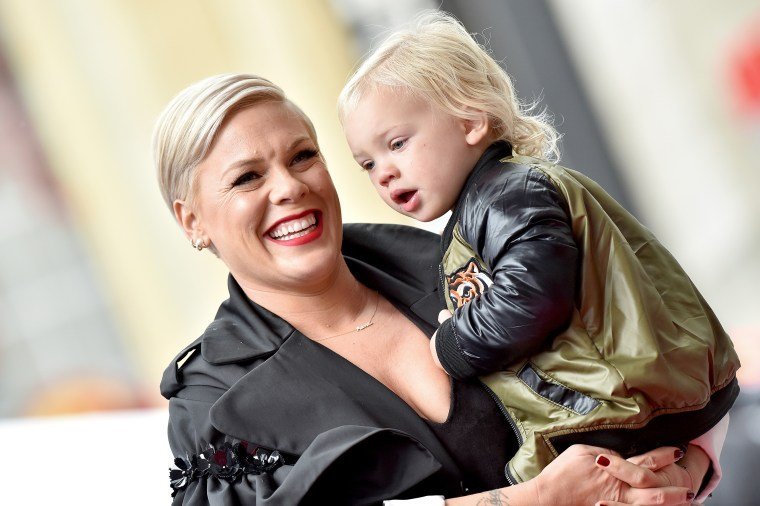 Pink and son Jameson Moon Hart.