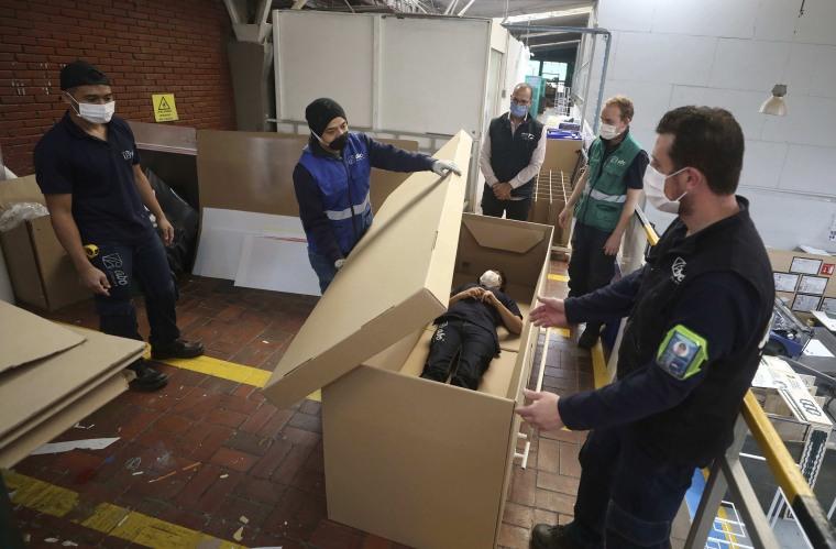 Image: Cardboard coffin