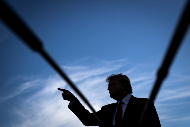 Image: President Donald Trump speaks to reporters on the South Lawn of the White House on Oct. 10, 2019.