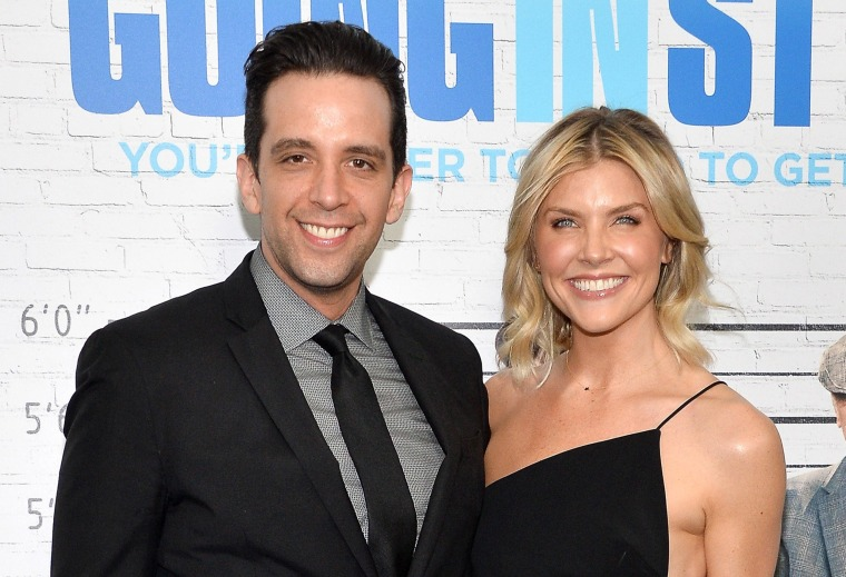 """Image: Nick Cordero and Amanda Kloots attend the """"Going in Style"""" New York premiere."""