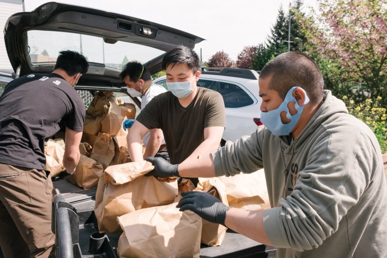 Working with King County Metro Access and a cohort of volunteers, the Asian Counseling and Referral Service delivered 440 bagged hot meals and 280 bags of groceries to homebound seniors on May 1.