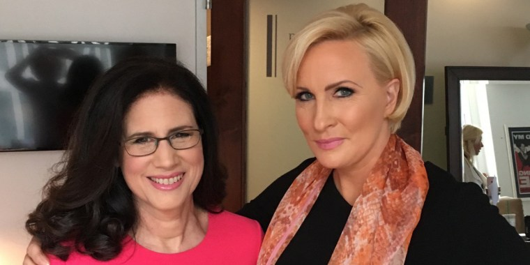 """Carol Fishman Cohen, chair and co-founder of career reentry firm iRelaunch and Mika Brzezinski, Know Your Value founder and """"Morning Joe"""" co-host."""